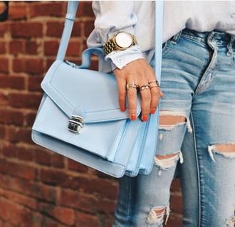 bag blue cute instagram