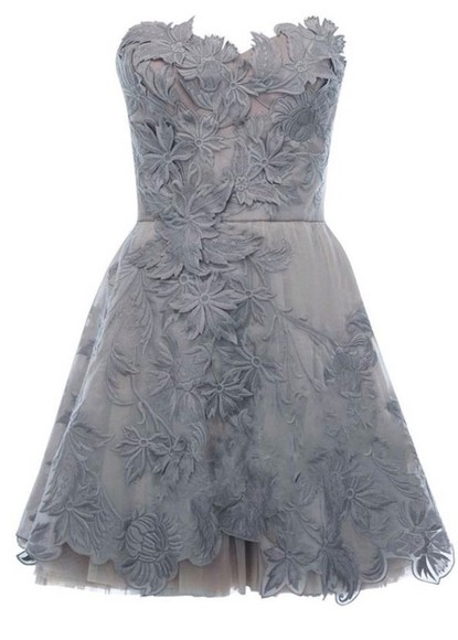 wedding clothes floral appliqué dress strapless bridesmaid