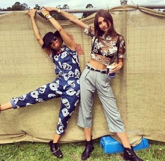 shirt pants blue black girls mimi overall
