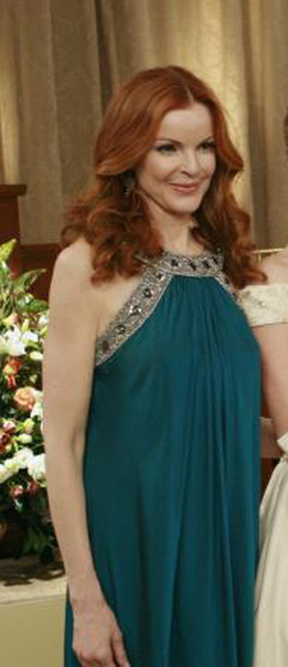 marcia cross bree desperate housewives blue dress dress