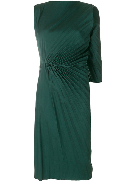 A.F.VANDEVORST dress pleated women spandex green