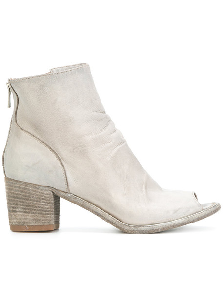 OFFICINE CREATIVE open women ankle boots leather grey shoes