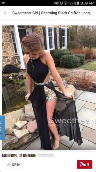 dress long black prom dresses prom black gold