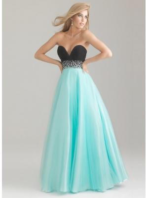 Buy Graceful Sweetheart Beaded Ball Gown Floor Length Tulle Prom Dress under 300-SinoAnt.com