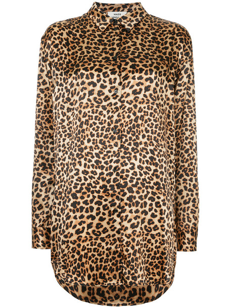Mads N0rgaard - leopard printed blouse - women - Silk - 34, Brown, Silk