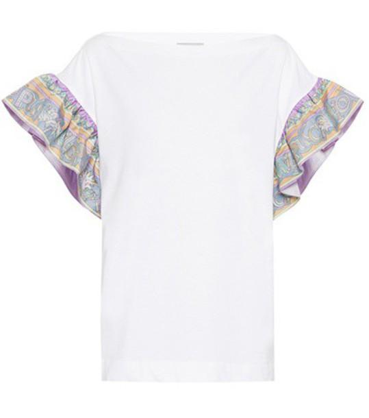 t-shirt shirt t-shirt cotton silk white top
