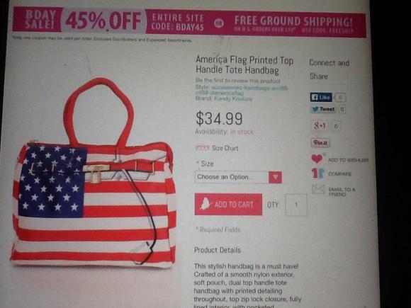 american flag bag Stars amiclubwear