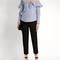 One-shoulder striped cotton shirt | self-portrait | matchesfashion.com us