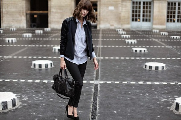 into your closet blogger jacket bag
