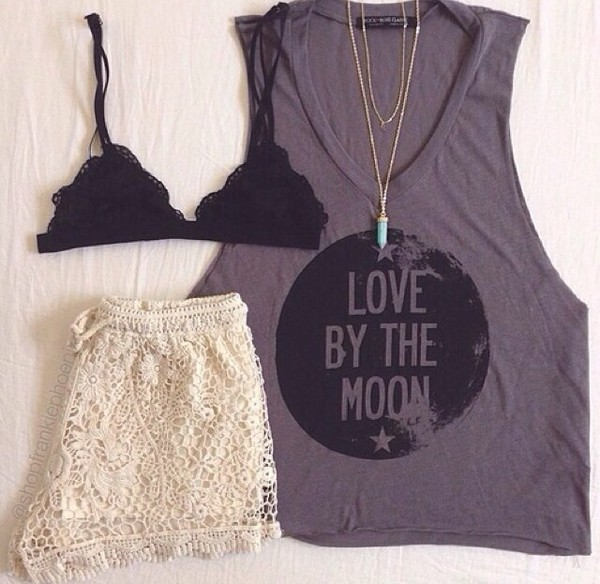 top t-shirt shirt jeans shorts jewels underwear