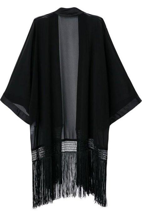 OM Fringe Kimono – Outfit Made