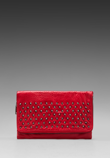 YOSI SAMRA Blair Studded Foldover Clutch in Scarlet at Revolve Clothing - Free Shipping!