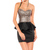 Sequin Embellished Beam Waist Flounces Stitching Backless Polyester Color Matching Dress For Women