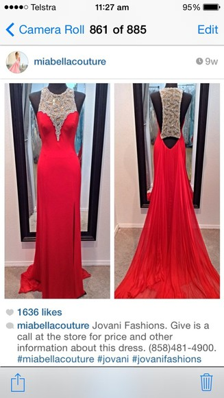 dress jovani dress prom dress jovani prom dress evening dress red dress formal dress backless prom dress