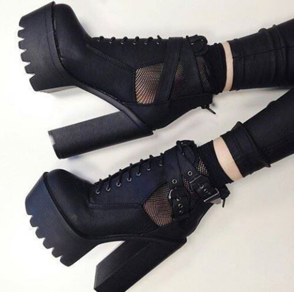 Shoes Platform Shoes Chunky Sole Mesh It Girl Shop