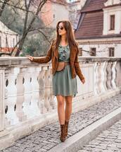 shoes,boots,leopard print,ankle boots,mini dress,ruffle dress,belt bag,jacket,suede jacket,aviator sunglasses