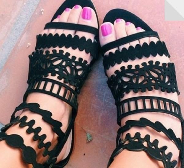 Shoes Pattern Sandals Lace Sandals Geometric Sandals