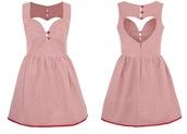 dress,pink dress,lovely,naughty mess vintage,sweet,heart