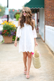 southern curls and pearls,blogger,dress,shoes,bag,jewels,sunglasses,make-up