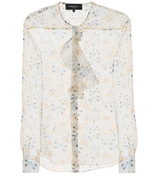 Rochas blouse silk top