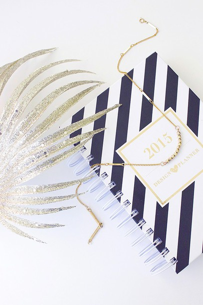 adventures in fashion blogger jewels stripes notebook