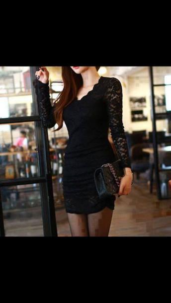 dress black dress mesh dress