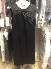 dress,halston heritage,leather