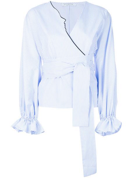 VIVETTA shirt women cotton blue top