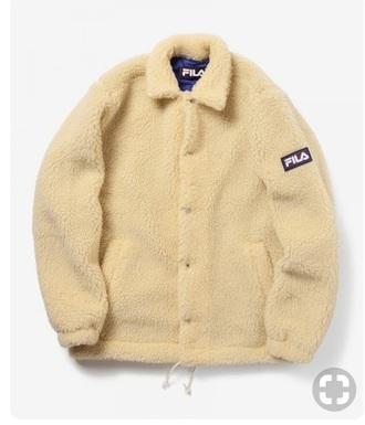 jacket beige beige jacket white fila hat fila coat winter outfits moumoute polar bear