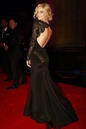 dress,formal dress,lace,backless,prom,black,pretty,trail,celebrity,homecoming#,formal,attire,black dress,black dress lace backless,clothes,lace dress,lace cami,lace sleeve,long sleeve dress,backless dress,prom dress,backless prom dress,gown