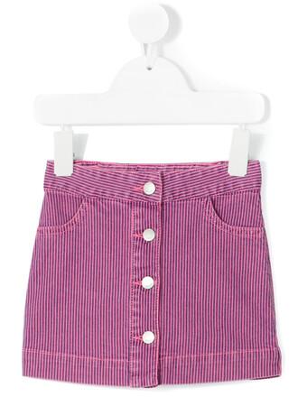skirt spandex stripes cotton purple pink
