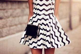 dress striped dress black and white