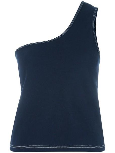 Jacquemus top women cotton blue