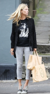 shoes,kate moss,jeans