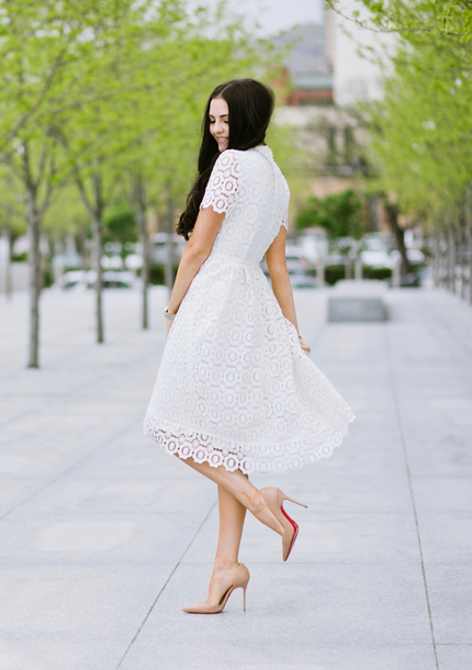 dress, nude heels, tumblr, midi dress