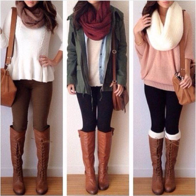sweater scarf shoes jacket jeans blouse girly outfits tumblr all cute outfits tumbrl outfits thick scarf socks everything boots peplum red cute black winter sweater white blouse winter outfits cream knit outfit loveit scarf red