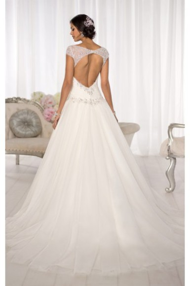 wedding dress wedding clothes backless dress