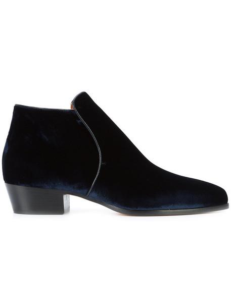 DEREK LAM women blue velvet shoes