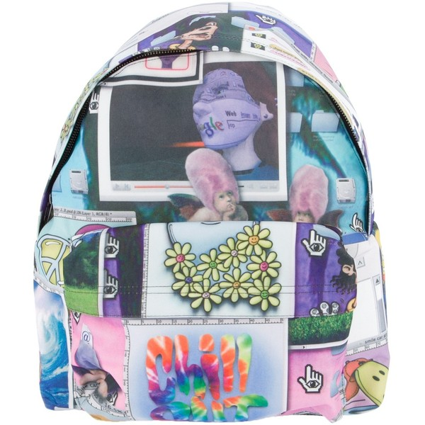 JEREMY SCOTT Collage print backpack