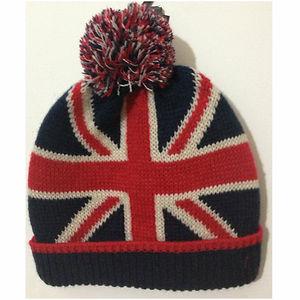 UNION JACK BRITISH FLAG BEANIE HATS UNISEX 2f66d70e908