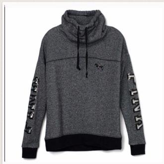 jacket cowl neck victoria's secret victoria secret sweater