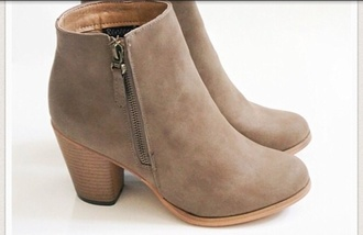 shoes light brown or brown beige shoes boots booties fashion ankle boots mid heel boots ankleboots nude boots suede boots beige