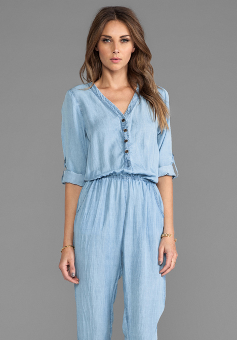 SAM&LAVI Ryleigh Jumper in Chambray at Revolve Clothing - Free Shipping!