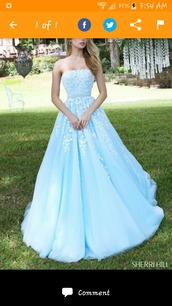 dress,blue dress,white pattern,long dresses by sherri hill,sherri hill,long dress,hoco dress,prom dress