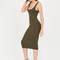 Beauty in the basic midi tank dress burgundy olive black - gojane.com