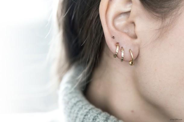 66cc7f9aa jewels earrings hoop earrings studs multiple piercings minimalist jewelry