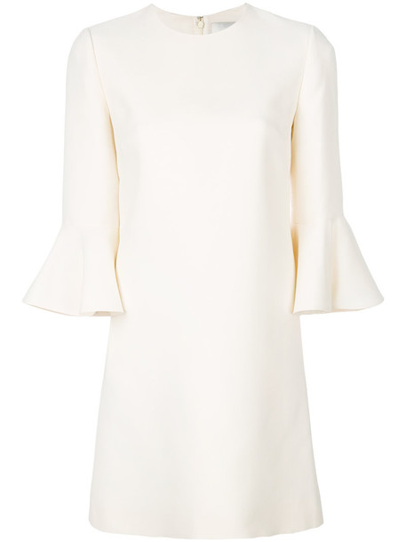 Valentino dress bell sleeve dress women white silk wool