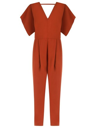 jumpsuit women brown