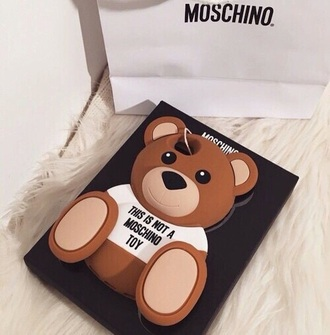 phone cover coque moschino teddy bear iphone 6s 6s plus silicone souple