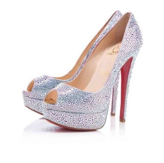 shoes silver sparkly
